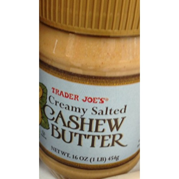 Trader Joes Creamy Salted Cashew Butter 3 Jars