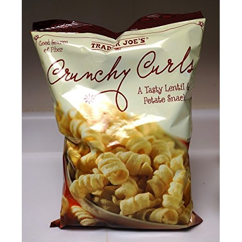 Trader Joes Crunchy Curls 6 OZ (170g) - A Tasty Lentil & Potato...
