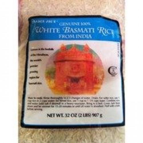 Trader Joes Genuine 100% White Basmati Rice from India, 2 lbs -...