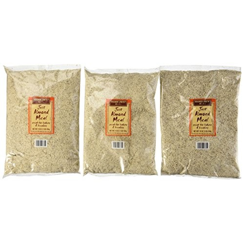 Trader Joes Just Almond Meal, 1 Lb Bag Pack of 3