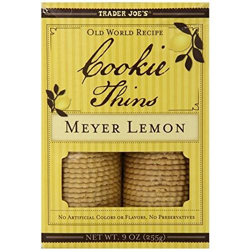 Trader Joes Meyer Lemon Cookie Thins Pack Of 2