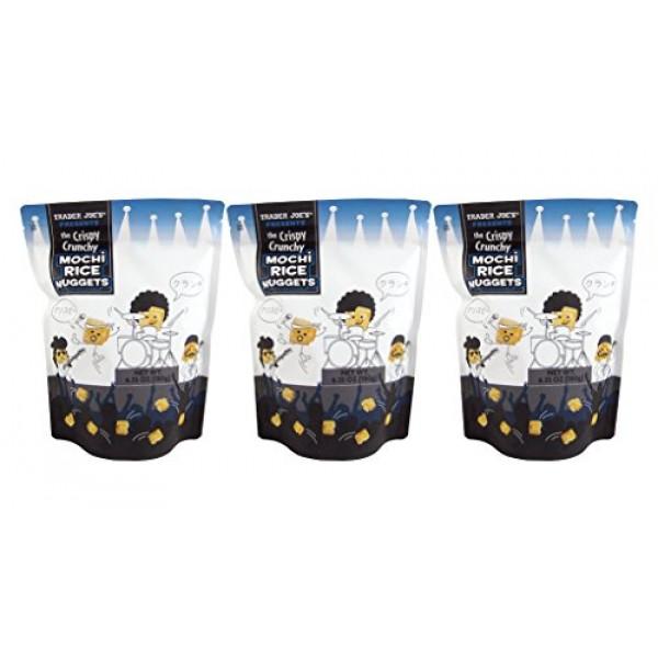 Trader Joes New The Crispy Crunchy Mochi Rice Nuggets 6.35oz 3...