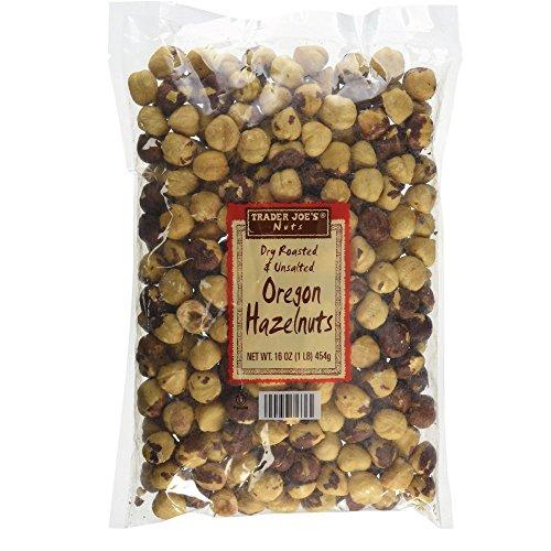 Trader Joes Nuts Dry Roasted & Unsalted Oregon Hazelnuts - 16 oz