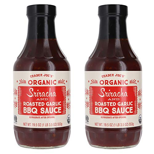 Trader Joes Organic Sriracha and Roasted Garlic BBQ Sauce Bundl...