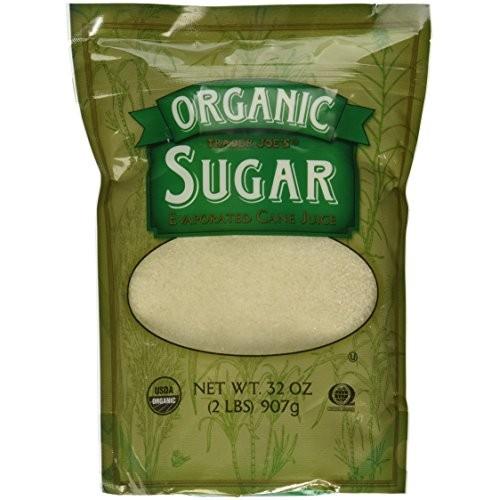 Trader Joes Organic Sugar Evaporated Cane Juice Certified USDA ...