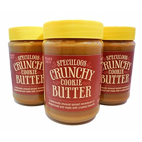Trader Joes Speculoos Crunchy Cookie Butter,NET.WT.14.1oz3 Jars