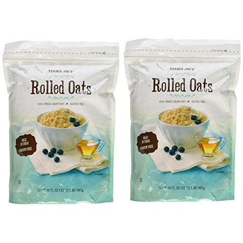 Trader Joes Whole Grain, Gluten Free Rolled Oats - Two 32 oz. Bags