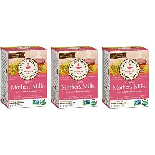Traditional Medicinals Teas Organic Mothers Milk Tea Bags, 16 C...