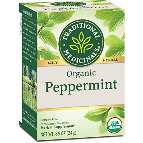 Traditional Medicinals Organic Peppermint Herbal Leaf Tea, Allev...
