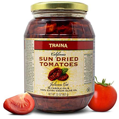 Traina Foods California Real Fresh Sun Dried Tomatoes Julienne C...