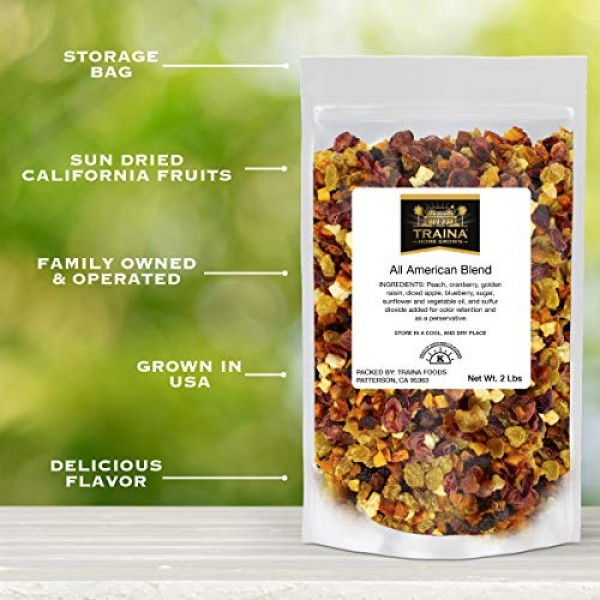 Traina Home Grown All American Sun Dried Fruit Blend - Diced Pea...