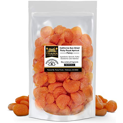 Traina Home Grown California Sun Dried Fancy Ruby Royal Apricots...