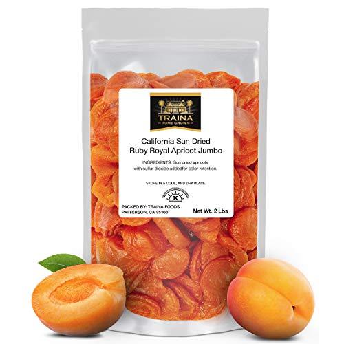 Traina Home Grown California Sun Dried Jumbo Ruby Royal Apricot ...