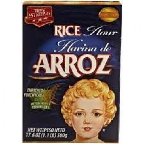 Tres Estrellas Rice Flour 17.64oz Box Pack of 6