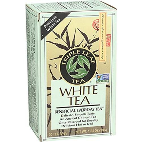 Triple Leaf Tea, White Peony, 20 Tea Bags Pack of 6