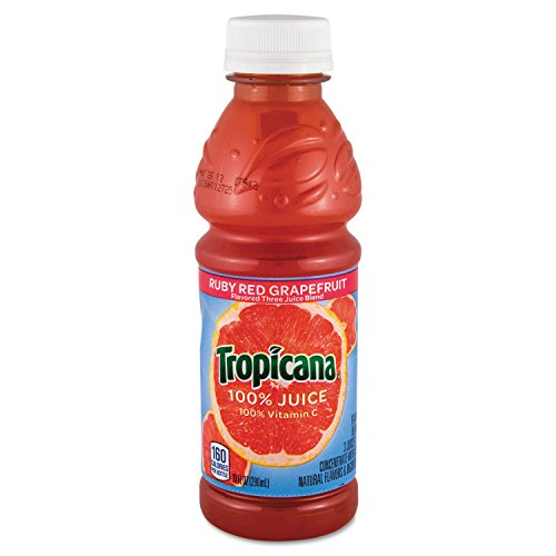 Tropicana 57161 100% Juice, Ruby Red Grapefruit, 10oz Bottle, 24...