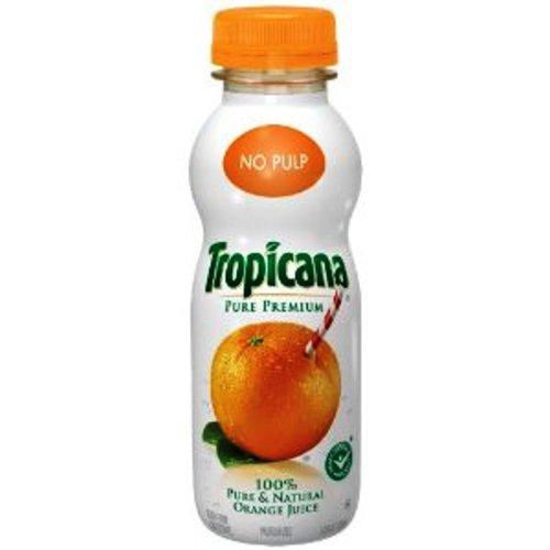 Tropicana Pure Juice, Orange, 12 Ounce (Pack of 12)