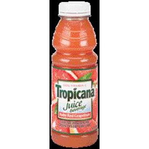 Tropicana Ruby Red Grapefruit Juice 15.2 oz - 12 Pack