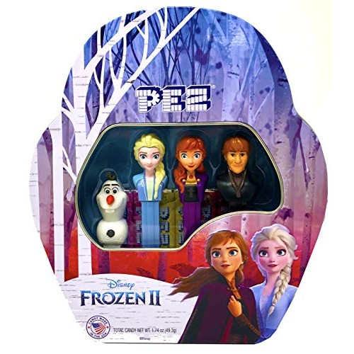 Pez Candy Frozen 2 Gift Tin - Includes 4 Dispensers, 6 Candy Ref...