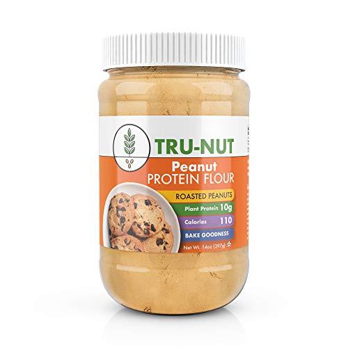 Tru-Nut Peanut Flour 18 Servings, 14 oz Jar Great for Baking, ...