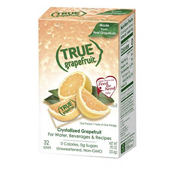 True Grapefruit Sachet Packets, 32 Count 0.90 oz