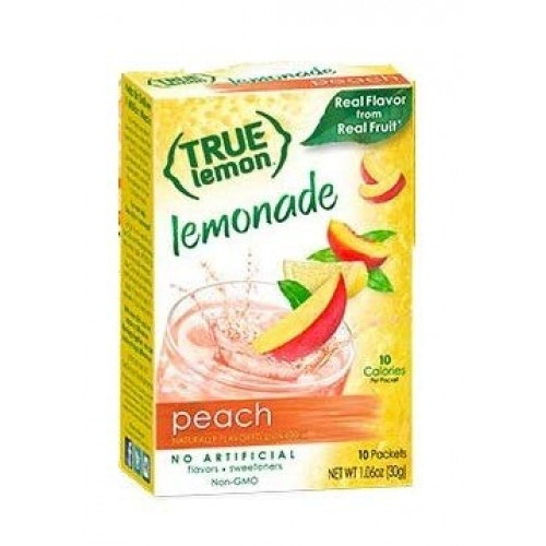 True Peach Lemonade Drink Mix, 10-count-3g each (Pack of 4)