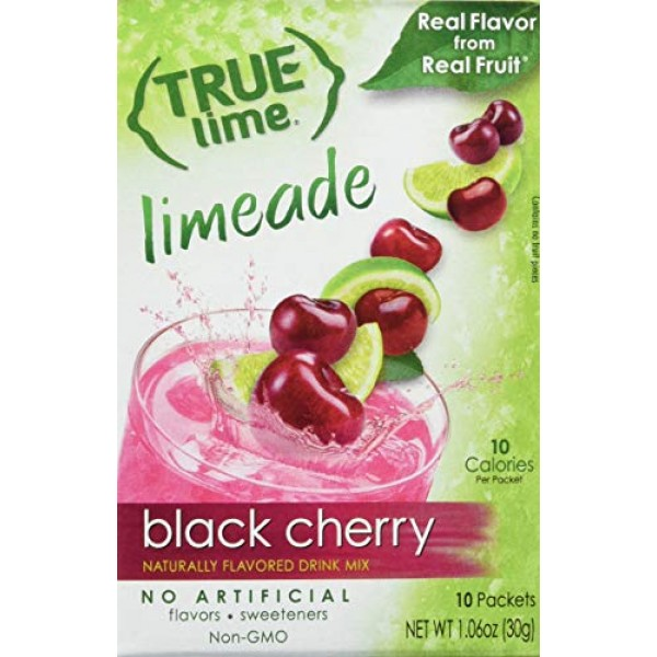 True Black Cherry Limeade Drink Mix, 10 Count, Pack of 4