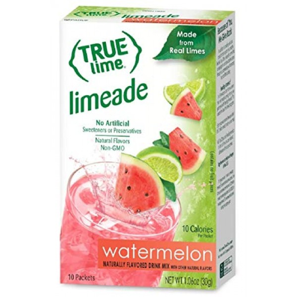 NEW FLAVOR: True Lime | WATERMELON AQUA FRESCA Pack of 4 10ct ...