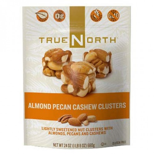 True North 100% Natural Clusters, Almond, Pecan, Cashews, Family...