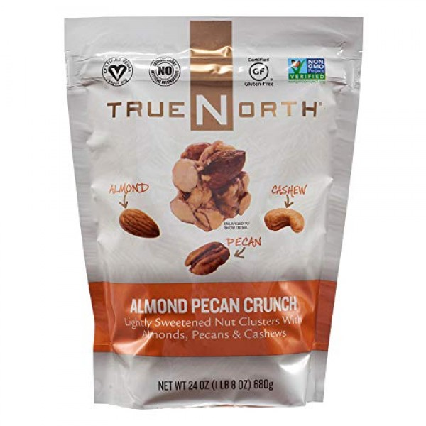 True North Almond Pecan Cashew Clusters - 24 oz. pack of 6