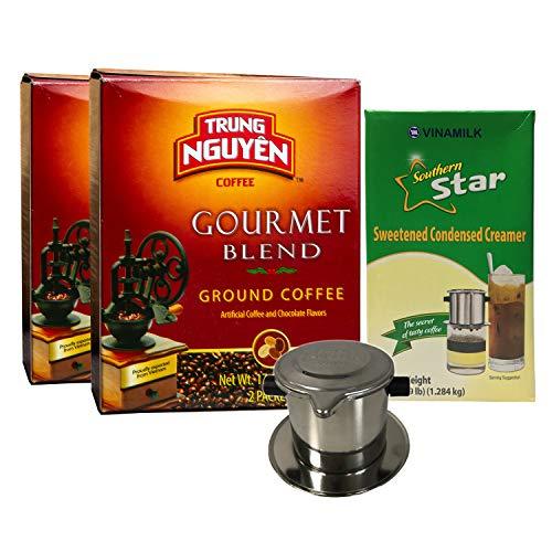 Vietnamese Coffee Pour Over Set - 3 Pcs. -2 Pack Trung Nguyen Go...