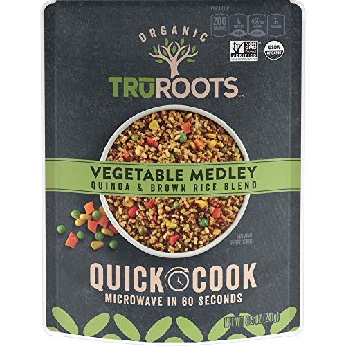 TruRoots Organic Quick Cook Quinoa and Brown Rice Blend, Vegetab...