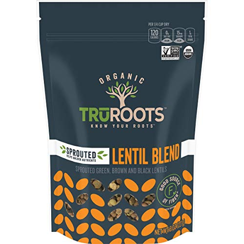 Truroots Sprouted Lentil Trio, Organic, 8-Ounce