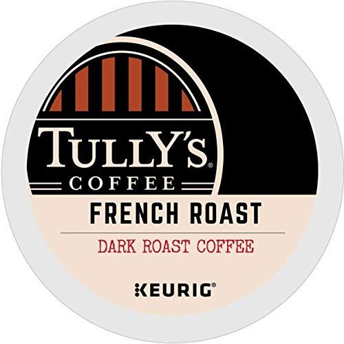 Tullys Coffee, French Roast, Single-Serve Keurig K-Cup Pods, Da...
