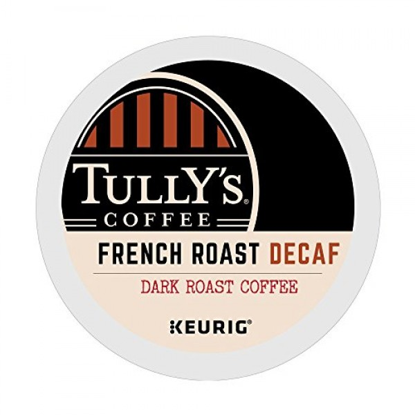 Tullys French Roast Decaf Coffee K Cup 48 Count