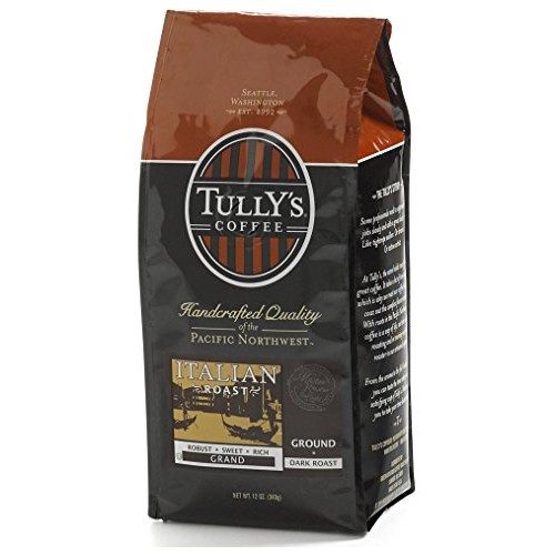 Tullys Coffee Italian Roast, Ground , 12 Ounce Bags Pack of 3