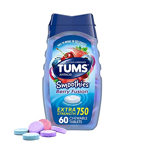 TUMS Smoothies Berry Fusion Extra Strength Antacid Chewable Tabl...