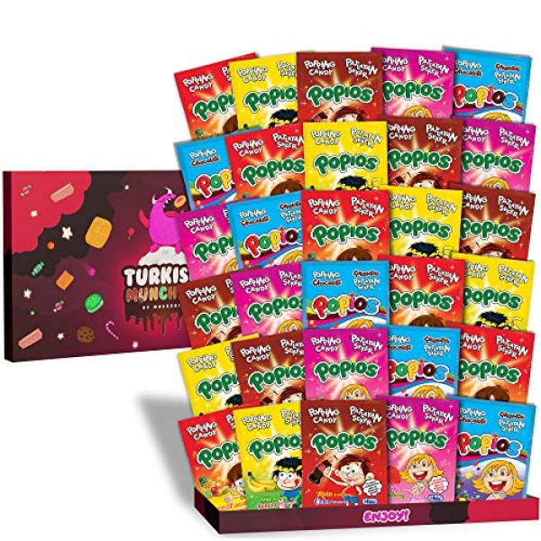 Maxi 30s 5-Flavor Popping Candy International Snacks Variety Pac...
