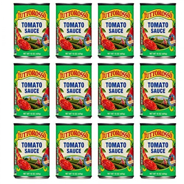 Tuttorosso | Canned Tomato Sauce | 15oz Can Pack of 12