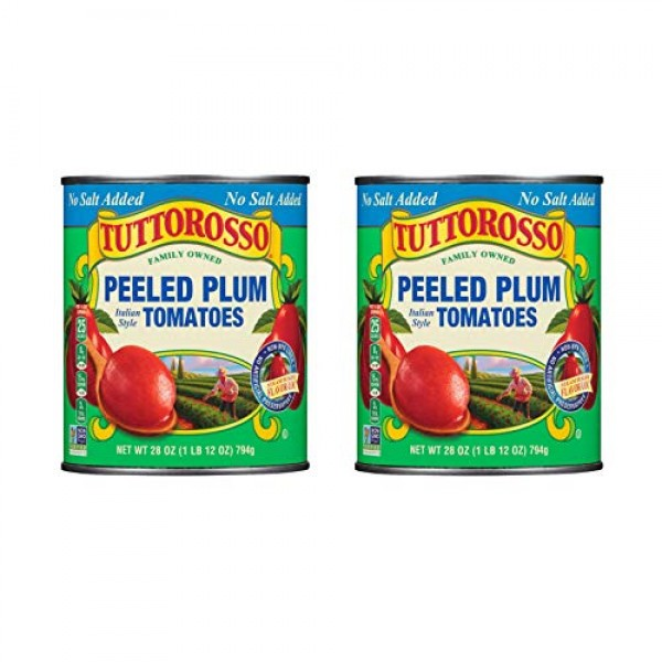 Tuttorosso No Salt Added Peeled Plum Canned Tomatoes, 28oz Cans ...