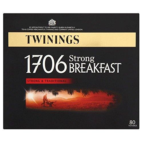 Twinings 1706 Strong Breakfast Tea Bags 80 - Pack of 2