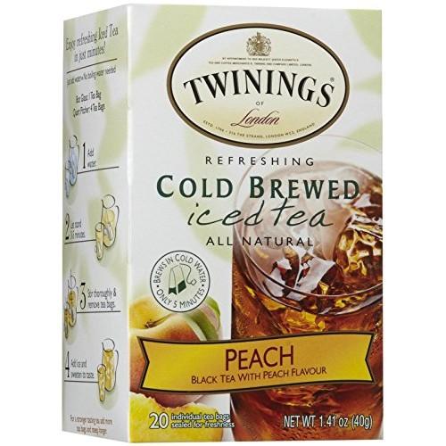 Twinings Peach Cold Brewed Iced Tea - 20 ct