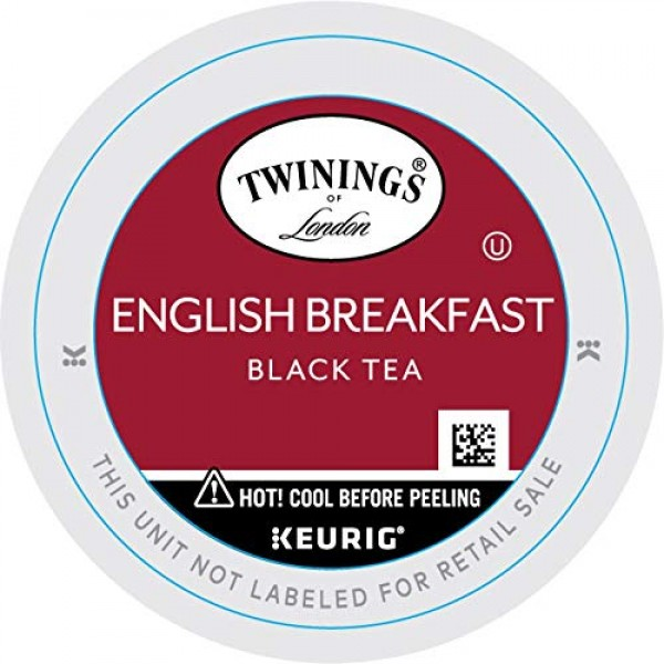Twinings of London English Breakfast Tea K-Cups for Keurig, 24 C...