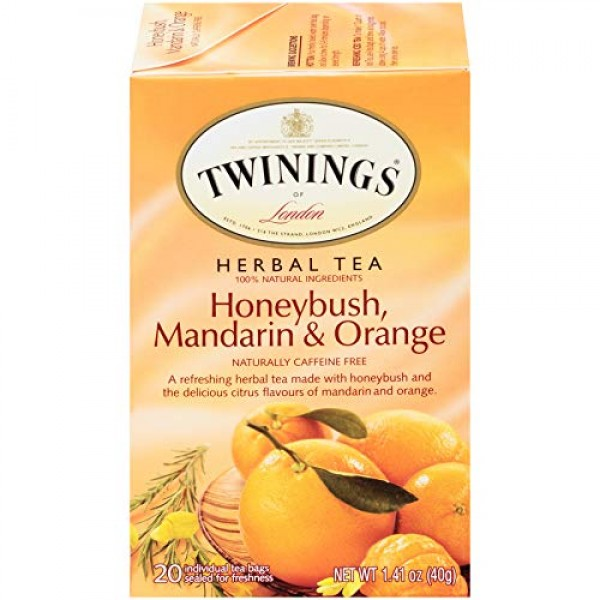 Twinings of London Honeybush, Mandarin, and Orange Herbal Tea Ba...