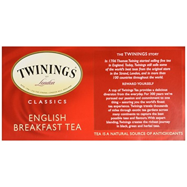 Twinings Four Red Fruits Tea 25 Tea Bags 50g / 1.8oz.