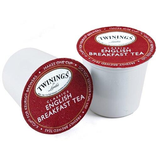 Twinings of London English Breakfast Black Tea K-Cups for Keurig...
