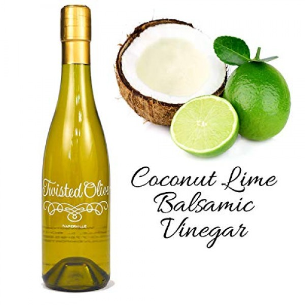 White Coconut Balsamic Vinegar | 12.7 oz. | Twisted Olive Balsam...