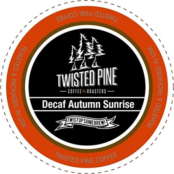 Twisted Pine Coffee Decaf Autumn Sunrise, Medium Roast Decaf, Si...