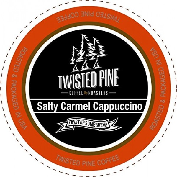 Twisted Pine Coffee Salty Caramel Flavored Cappuccino, Single-Se...