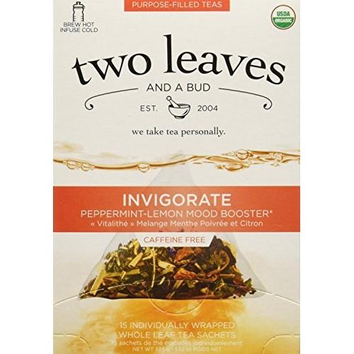 TWO LEAVES AND A BUD Organic Invigorate Tea 15 Bag, 0.02 Pound